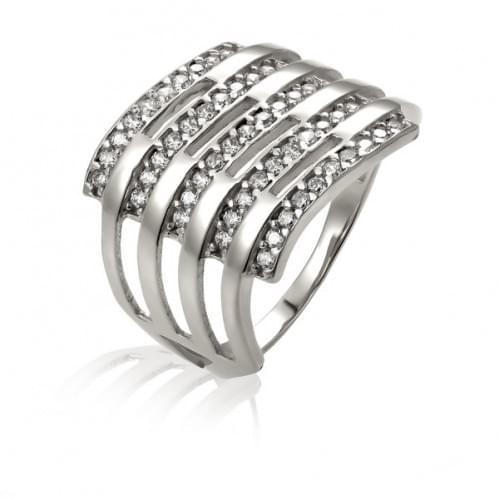 Серебряное кольцо с фианитом КВ714с