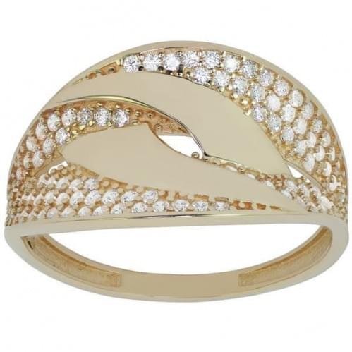 Золотое кольцо с фианитом КВ721и