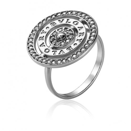 Серебряное кольцо с фианитом КВ736с