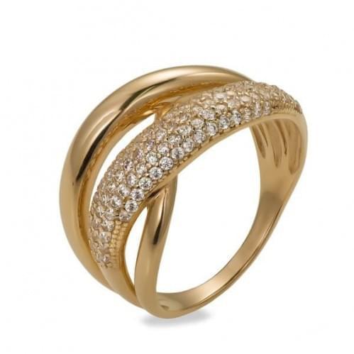 Золотое кольцо с фианитом КВ743и