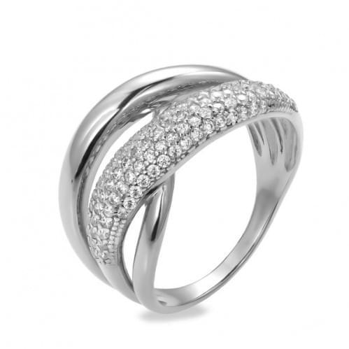 Серебряное кольцо с фианитом КВ743с