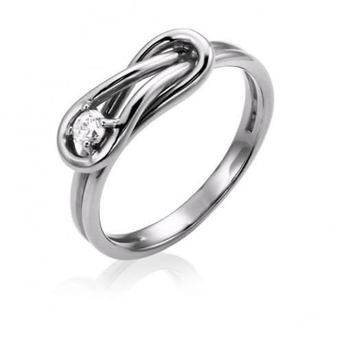 Серебряное кольцо с фианитом КВ749с
