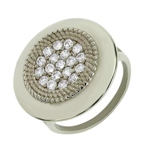 Серебряное кольцо с цирконием КВ767с