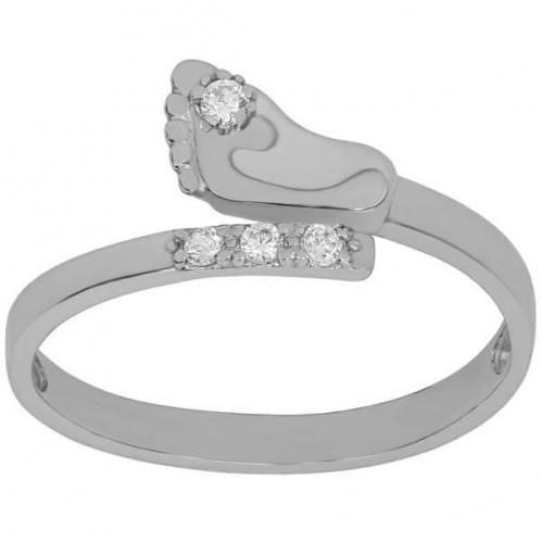 Серебряное кольцо с фианитом КВ796с