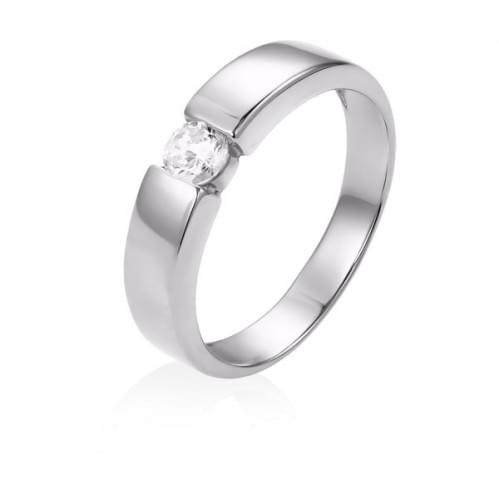 Серебряное кольцо с фианитом КВ812с