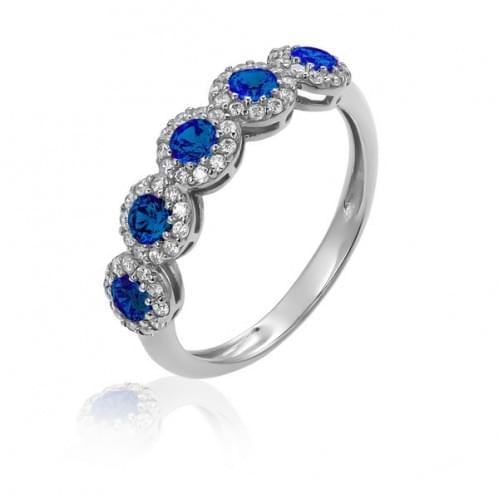Серебряное кольцо с фианитом КВ818.02с