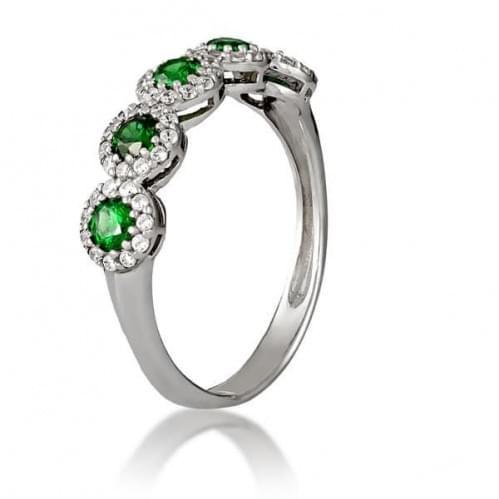 Серебряное кольцо с фианитом КВ818.07(в)с