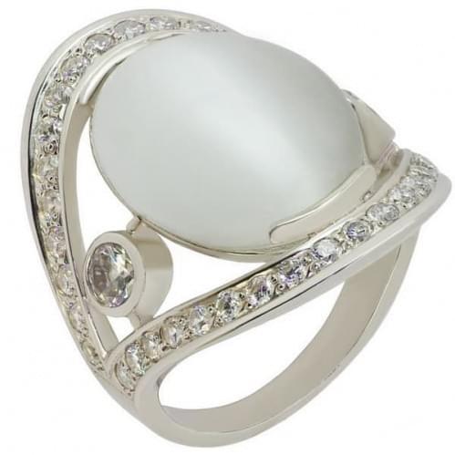 Серебряное кольцо с фианитами КВ821с