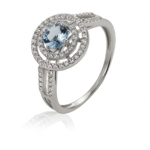 Серебряное кольцо с фианитом КВ842.01с