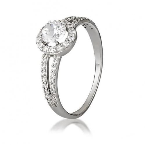 Серебряное кольцо с фианитом КВ899(2)вс