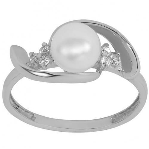 Серебряное кольцо с жемчугом КВ905с