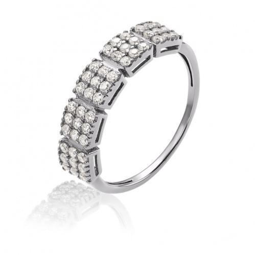 Серебряное кольцо с фианитом КВ908с