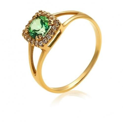 Золотое кольцо с топазом КВ912(2).12607н