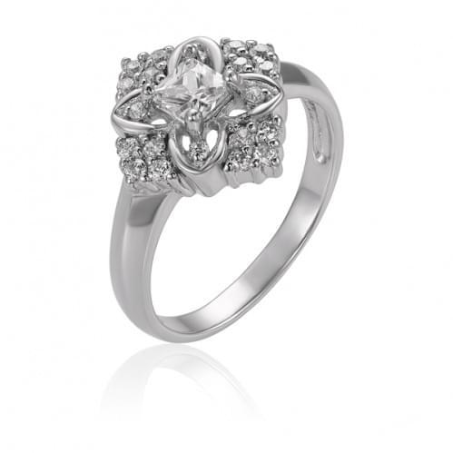 Серебряное кольцо с фианитом КВ929с