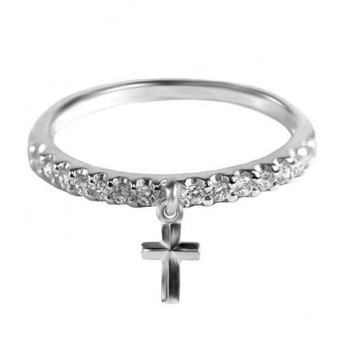 Серебряное кольцо с фианитом КВ933.1с