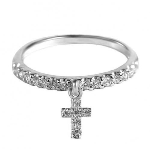 Серебряное кольцо с фианитом КВ933.2с