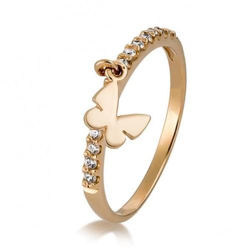 Золотое кольцо с фианитом КВ933.4и