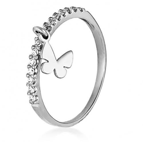 Серебряное кольцо с фианитом КВ933.4с
