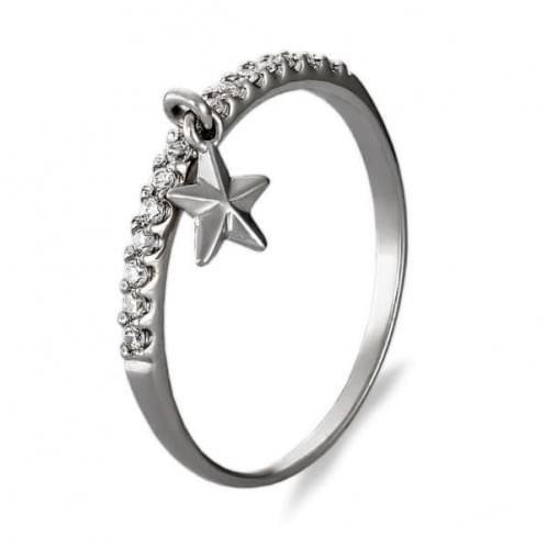 Серебряное кольцо с фианитом КВ933.5с