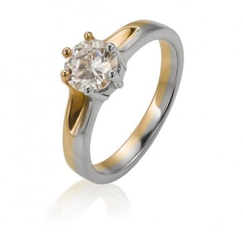 Золотое кольцо с фианитом КВ956и