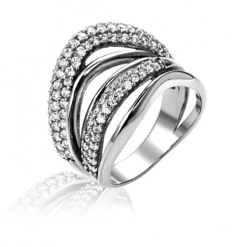 Серебряное кольцо с фианитом КВ957с