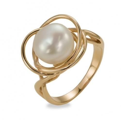 Золотое кольцо с фианитом КВ964и