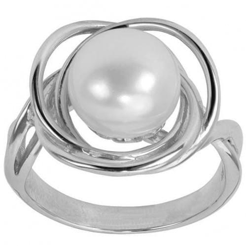 Серебряное кольцо с жемчугом КВ964с