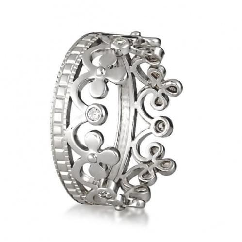 Серебряное кольцо с фианитом КВ966с