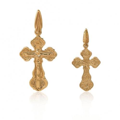 Золотой крестик КР009и