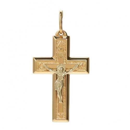 Золотой крестик КР039и