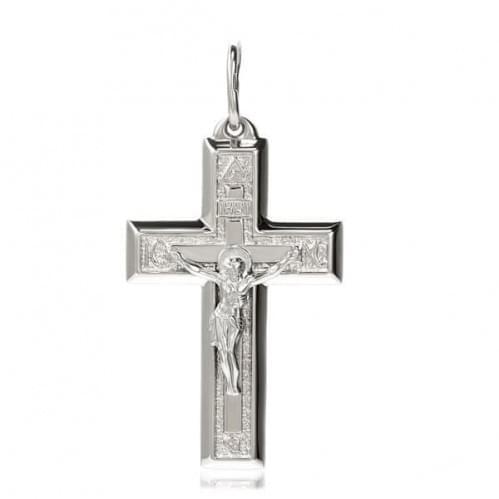 Серебряный крестик КР039с