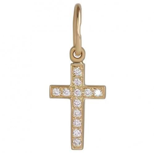 Золотой крестик с фианитом КР058и