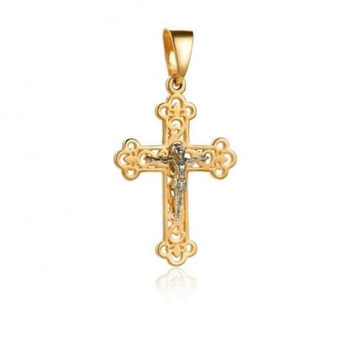 Золотой крестик КР065и
