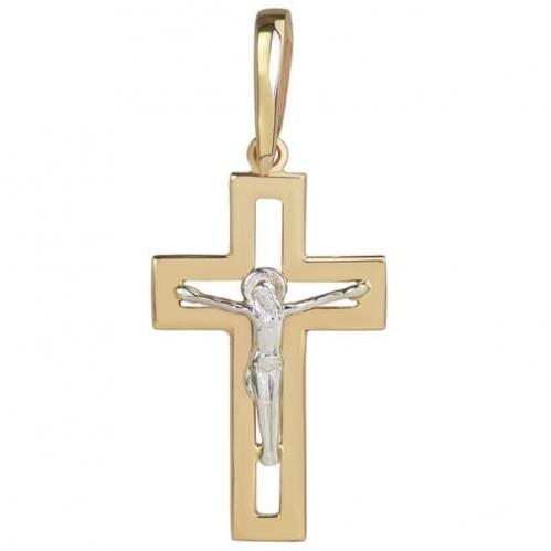 Золотой крестик КР074и