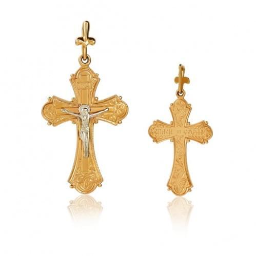 Золотой крестик КР086и