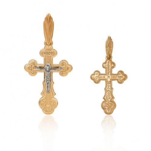 Золотой крестик КР098и