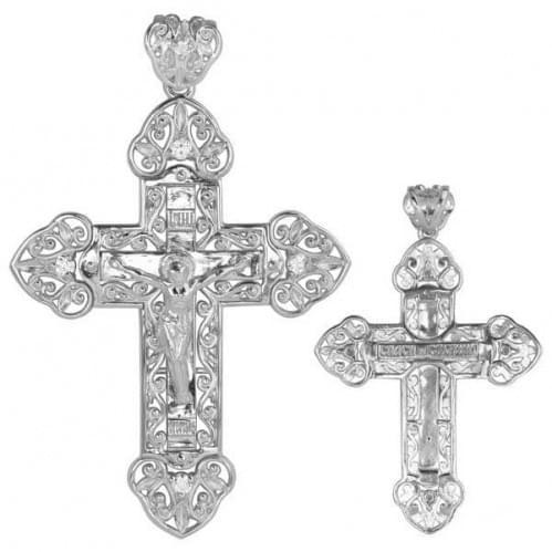 Серебряный крестик с фианитом КР110с