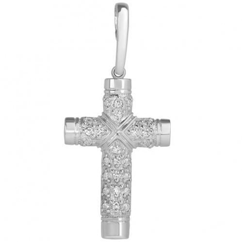 Срібний хрестик з цирконієм КР275с