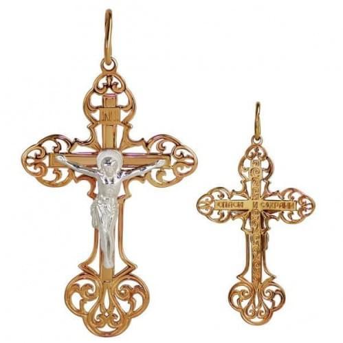 Золотой крестик КР279и