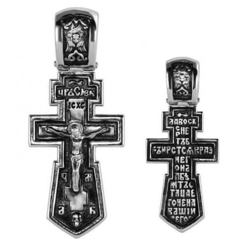 Серебряный крестик КР283с