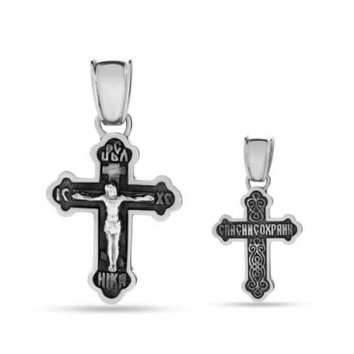 Серебряный крестик КР284с