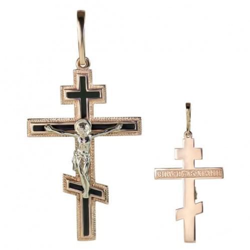 Золотой крестик с фианитом КР290и