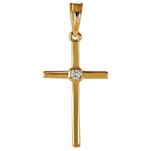 Золотий хрестик з вставкою КР294н