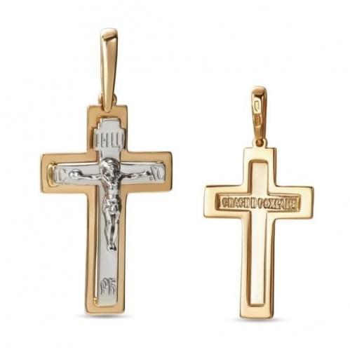 Золотой крестик КР299и