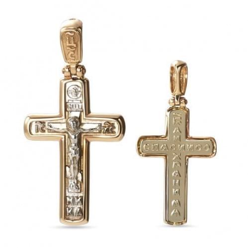 Золотой крестик КР306и