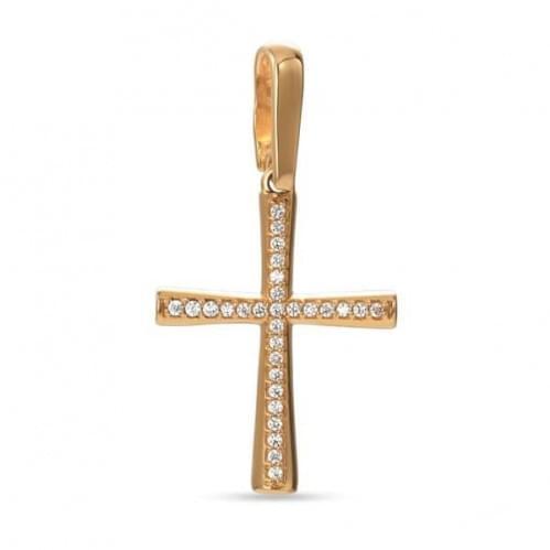 Золотий хрестик з фіанітом КР315и