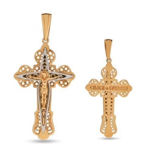 Золотой крестик КР318и