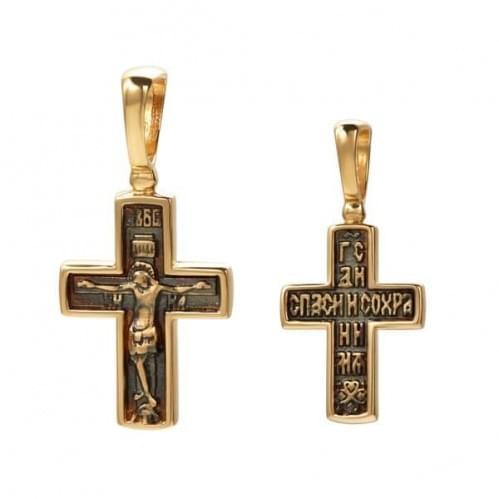 Золотой крестик КР325и