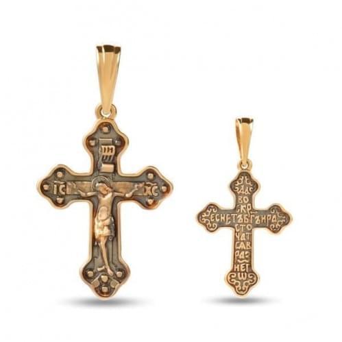 Золотой крестик КР326и