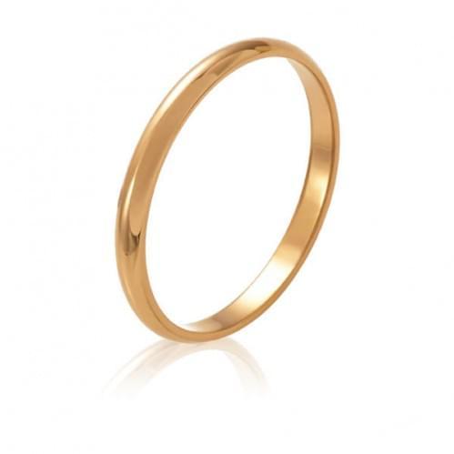 Золотое обручальное кольцо ОК015.2